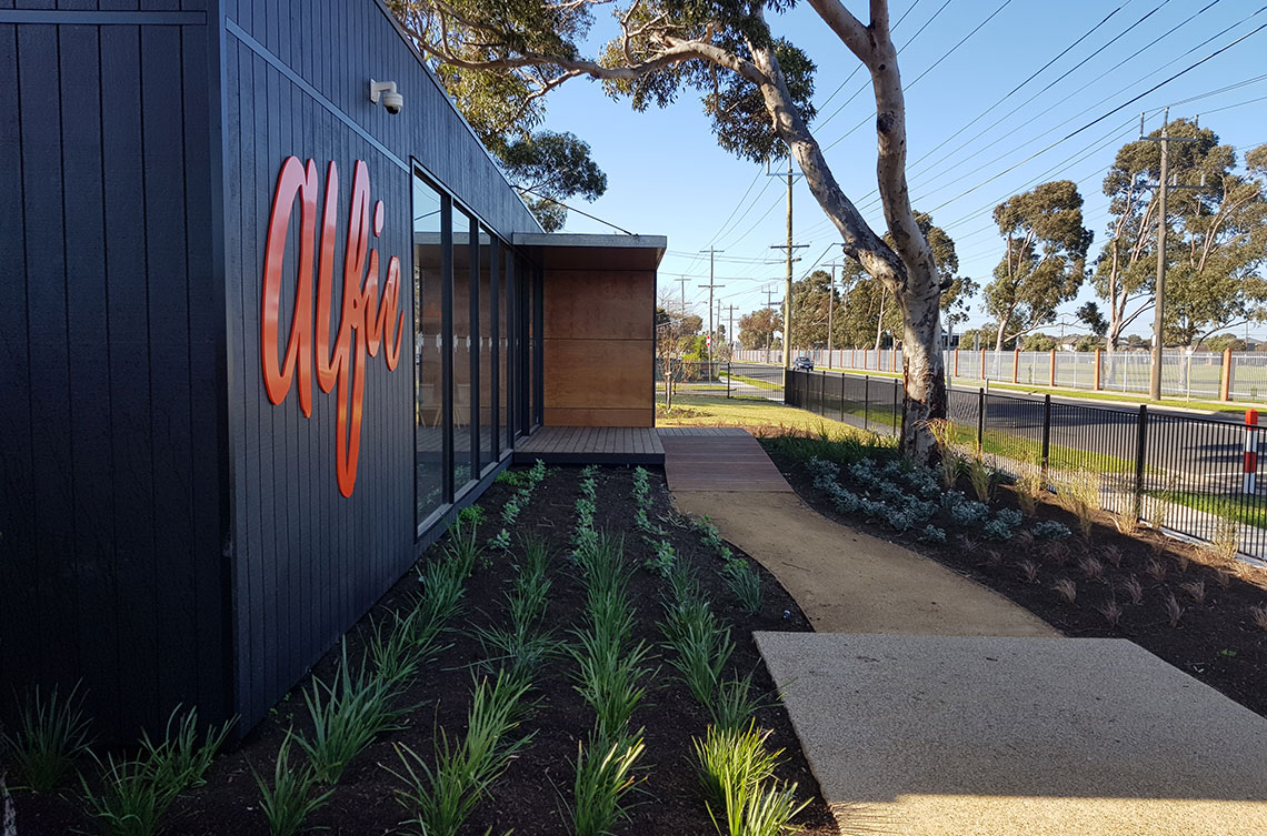 Altona Land Sales Office Landscaped